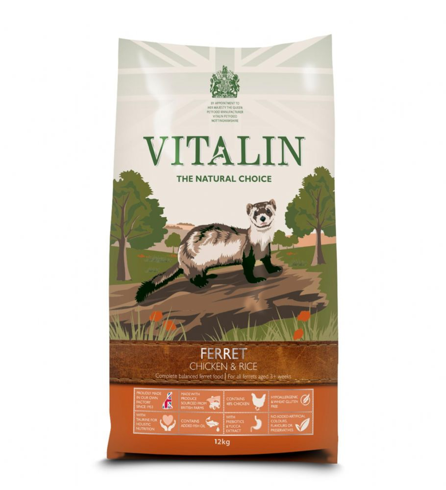 12kg Vitalin Premium Ferret Food